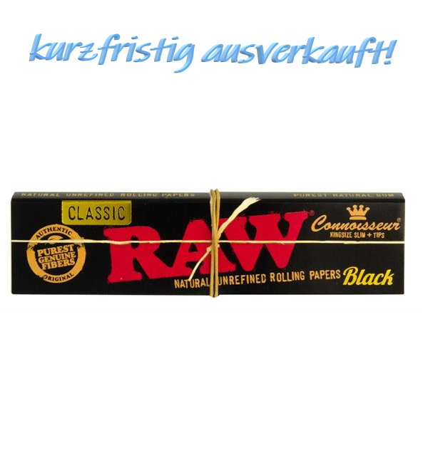 Blättchen & Tips - RAW Classic Black