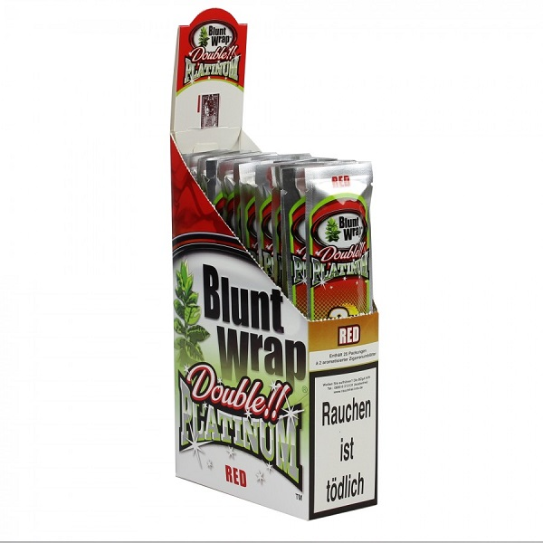 Blunt Wrap - Double!! Platinum - Red