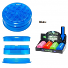 Acryl Grinder - Ø 61mm - Glow in the Dark - blau